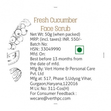 Fresh Cucumber Face Scrub
