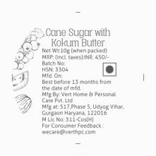 Cane Sugar with Kokum Butter Lip Scrub