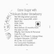 Cane Sugar with Kokum Butter Strawberry Lip Scrub