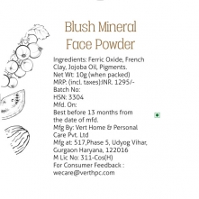 Blush Mineral Face Powder