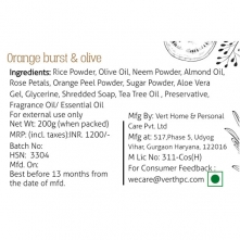Orange Burst & Olive Body Scrub