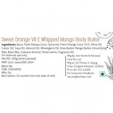 Sweet Orange Vit E Whipped Mango Body Butter