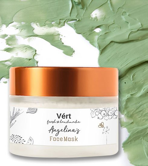Angelina's Face Mask Vert Fresh and Handmade - Verthpc.com